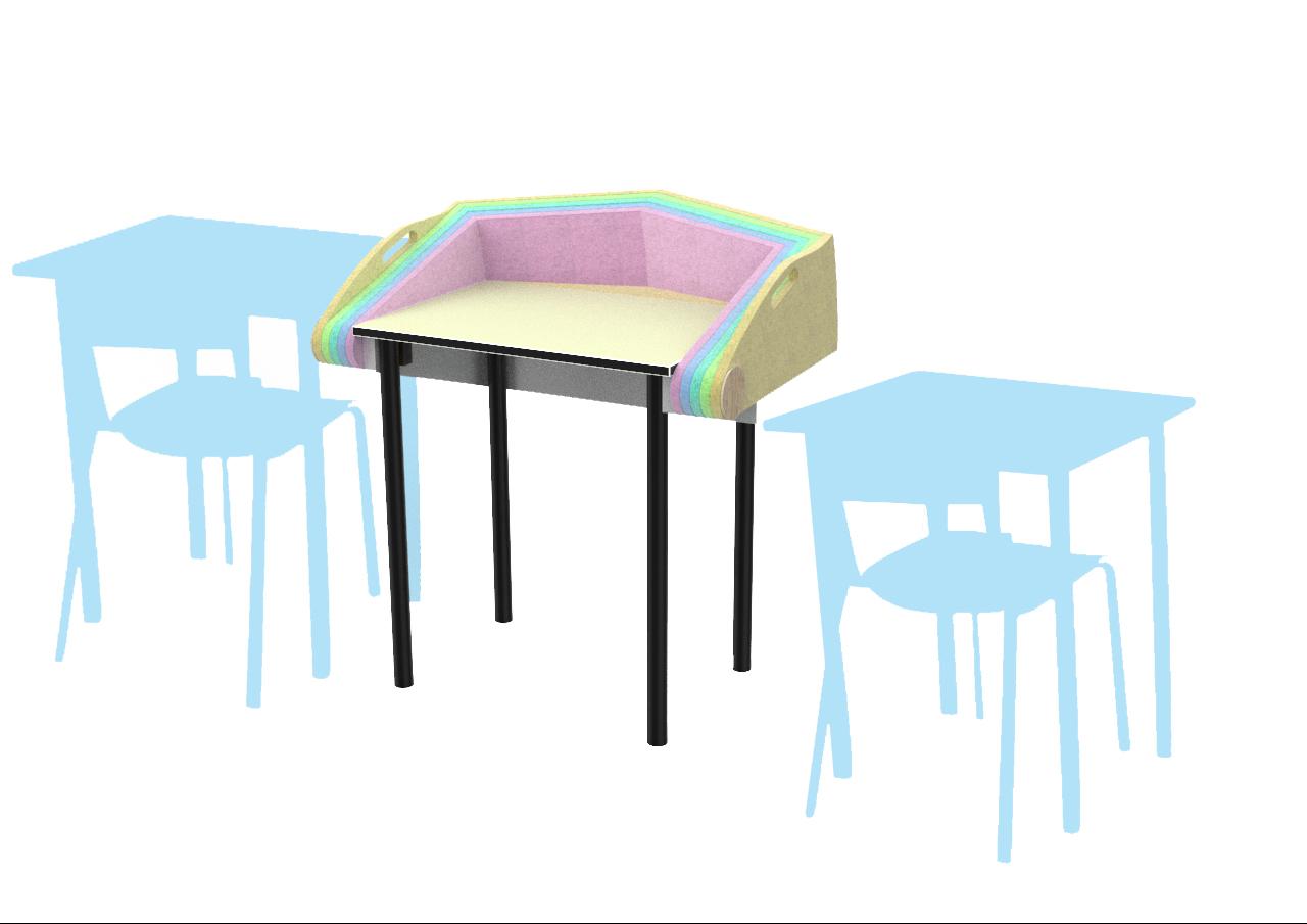 """""""Armadillo"""" Calming Desk Barrier per bambini ASD"""